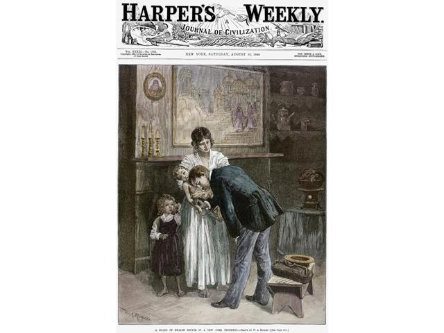 Tenement Doctor 1889 NA Board Of Health Doctor In A New York Tenement Drawing By WA Rogers On The Front Page Of HarperS Weekly 10 August 1889 Poster Print by  (18 x 24)