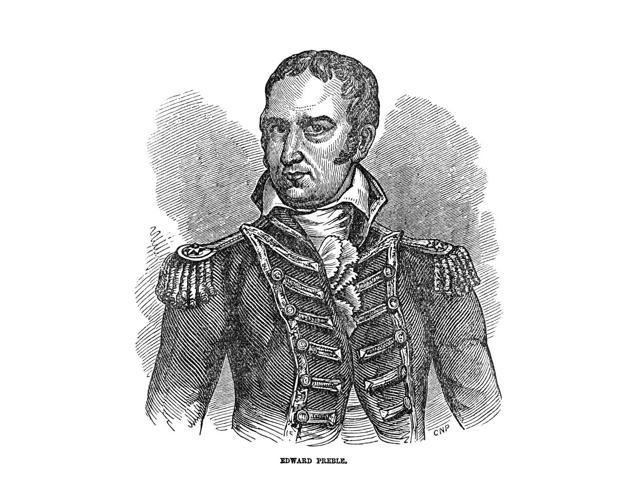 Edward Preble (1761-1807) Namerican Naval Officer Wood Engraving American 19Th Century Poster Print by  (18 x 24)