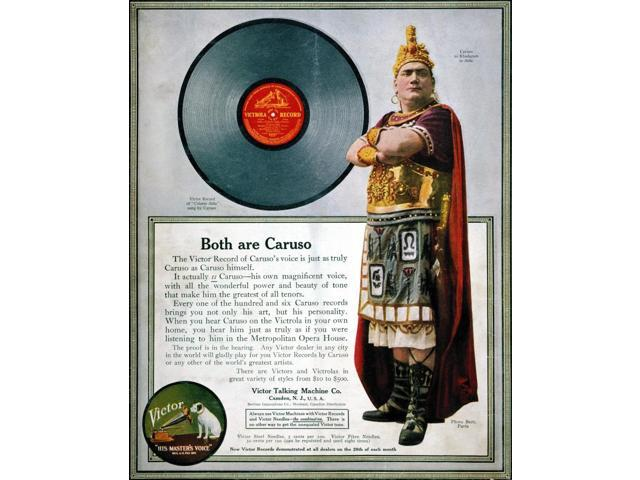 Enrico Caruso (1873-1921)Nvictor Talking Machine Co Advertisement Featuring Caruso As Rhadames In VerdiS Aida From An American Magazine Of 1914 Poster Print by  (18 x 24)