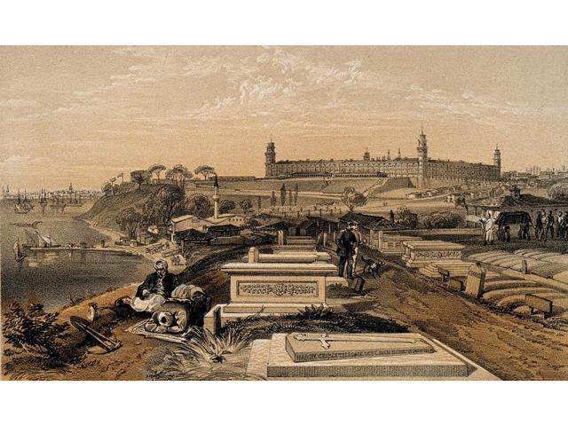 Hospital and Cemetery at Scutari c1854 Poster Print by Science Source (24 x 18)