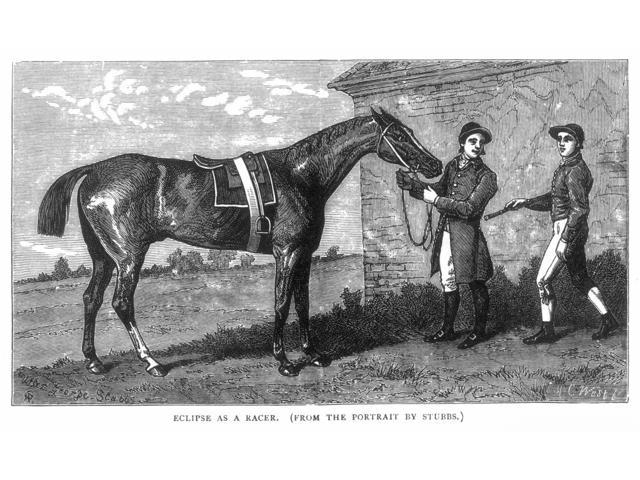 Eclipse (1764-1789) Nenglish Racehorse At Newmarket With A Groom And Jockey Wood Engraving 19Th Century After The Painting C1770 By George Stubbs Poster Print by  (18 x 24)