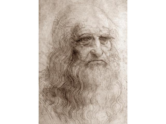 Leonardo Da Vinci N(1452-1519) Italian Painter Sculptor Architect Engineer And Scientist Self-Portrait Drawing C1514 In Red Chalk Poster Print by  (18 x 24)