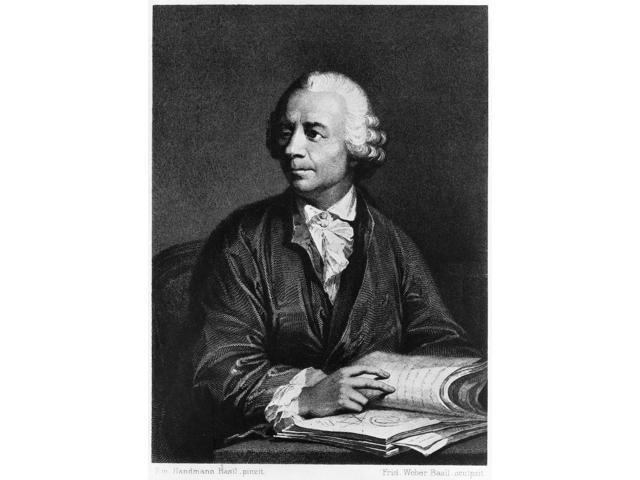 Leonhard Euler (1707-1783) Nswiss Mathematician And Physicist Copper Engraving Swiss 1851 After A Painting 1756 By Emanuel Handmann Poster Print by  (18 x 24)