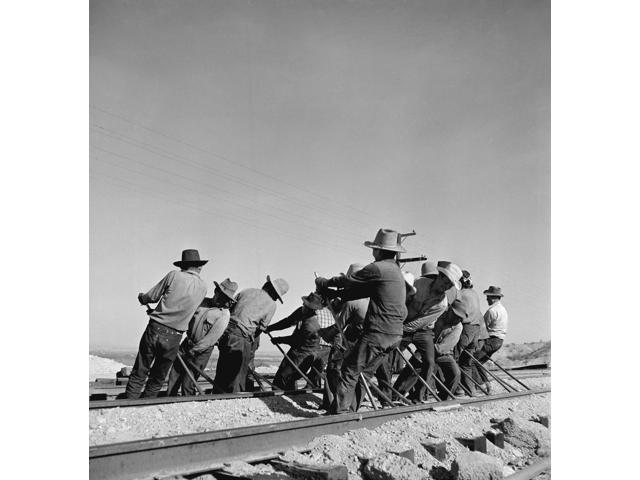 California Railway C1943 Nan Indian Section Gang At Work On The Tracks In The Atchison Topeka And Santa Fe Railroad Yards Needles San Bernadino County California Photographed By Jack Delano C1943 Post