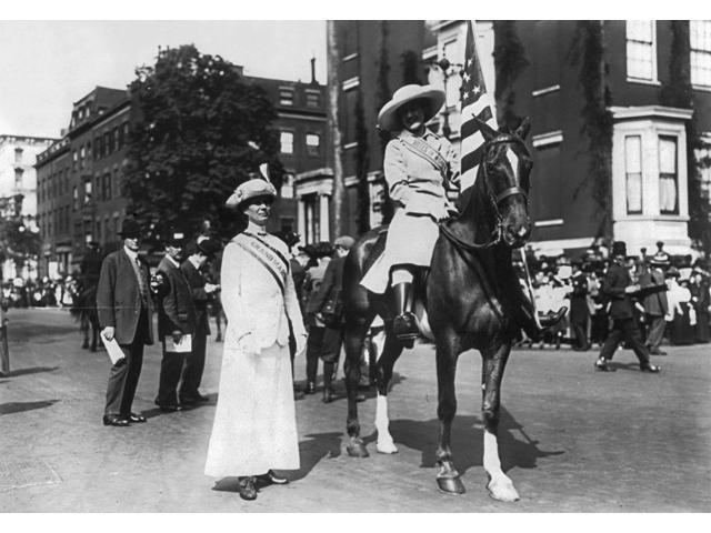 Suffragettes 1913 Namerican Suffragettes Josephine Beiderhasse And Inez Milholland Boissevain (On Horse) Photographed At The WomenS Suffrage Parade Held In Washington DC May 1913 Poster Print by  (18