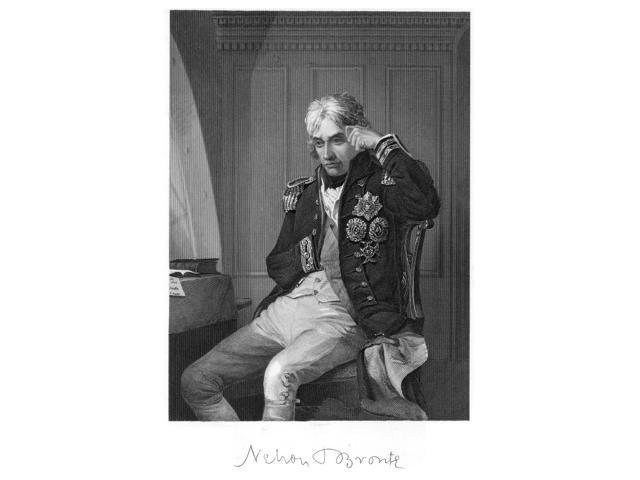 Horatio Nelson (1758-1805) Nviscount Nelson English Admiral Steel Engraving 19Th Century Poster Print by  (18 x 24)