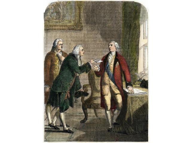 John Adams (1735-1826) Nsecond President Of The United States John Adams Presented To King George Iii In 1785 As The First Ambassador To The English Court Engraving 19Th Century Poster Print by  (18 x