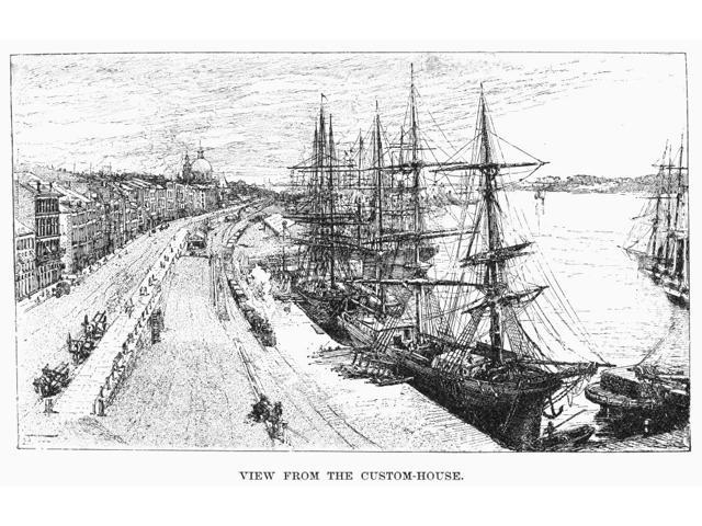 Montreal Docks 1889 Nview Of The Docks At Montreal Canada Line Engraving 1889 Poster Print by  (18 x 24)