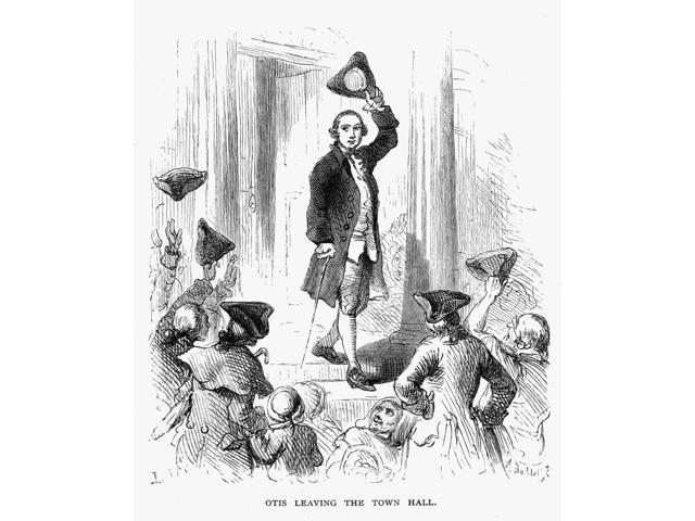 James Otis (1725-1783) Namerican Revolutionary Patriot Otis Cheered On Leaving The Boston Town Hall After Protesting The Writs Of Assistance 1761 Wood Engraving 19Th Century Poster Print by  (18 x 24)