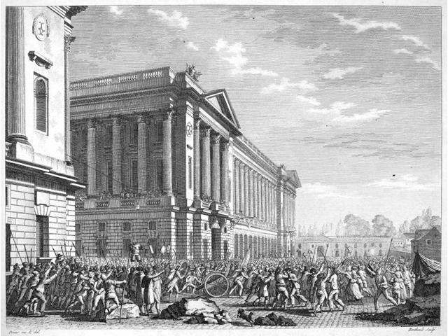 French Revolution 1789 Nthe Pillaging Of The Furniture Repository In Paris France By A Mob 13 July 1789 Contemporary French Engraving By Jean-Louis Prieur Poster Print by  (18 x 24)