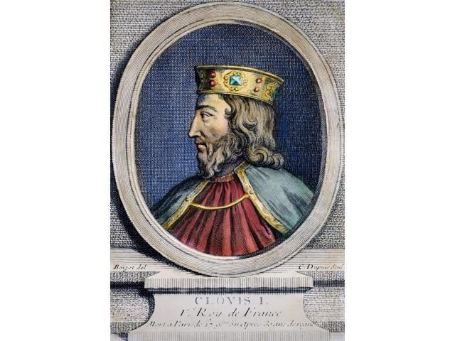 Clovis (C466-511) Nking Of The Salian Franks 481-511 Copper Engraving French 18Th Century Poster Print by  (18 x 24)