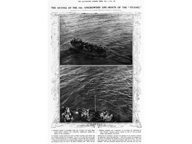 Titanic Life-Boats 1912 Nuncrowded Life-Boats Of The Titanic 1912 Poster Print by  (18 x 24)