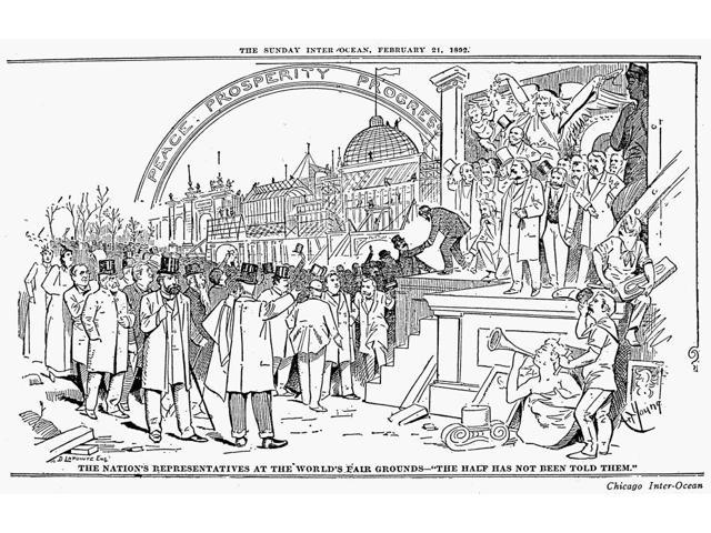 Columbian Exposition 1893 Nmembers Of Congress From Washington DC Visiting The Half-Completed Fairgrounds For The WorldS Columbian Exposition Cartoon February 1892 By Art Young For The Chicago Inter-O