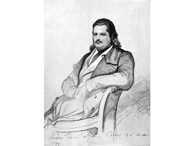 Honore De Balzac (1799-1850) Nfrench Writer Drawing 1845 By Carl Vogel Von Vogelstein Poster Print by  (18 x 24)
