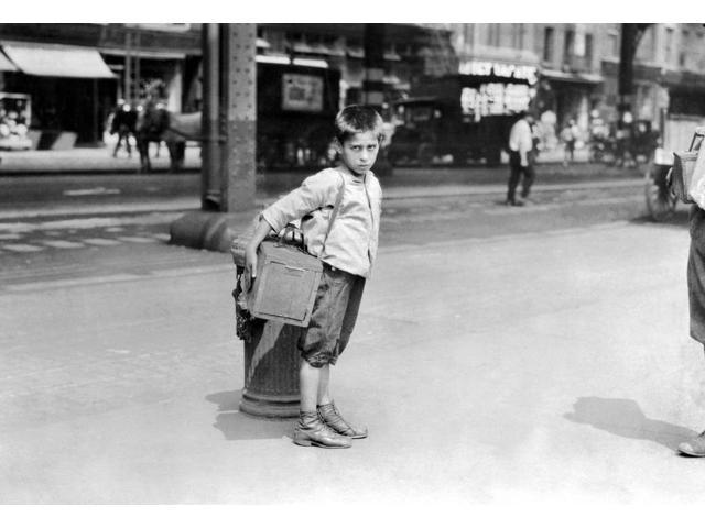 Child Labor Bootblack 1924 Njimmie A Seven-Year-Old Bootblack Working On Canal Street In New York City Photograph By Lewis Hine 1924 Poster Print by  (18 x 24)