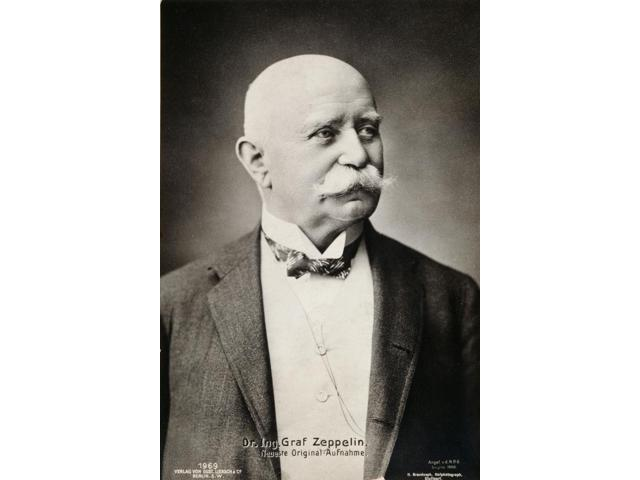 Ferdinand Von Zeppelin N(1838-1917) Count Ferdinand Von Zeppelin German Soldier And Aeronaut Photographed In 1908 Poster Print by  (18 x 24)