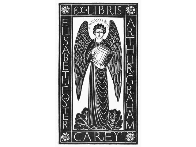 Angel Bookplate 1928 Ndesign By Eric Gill Poster Print by  (18 x 24)