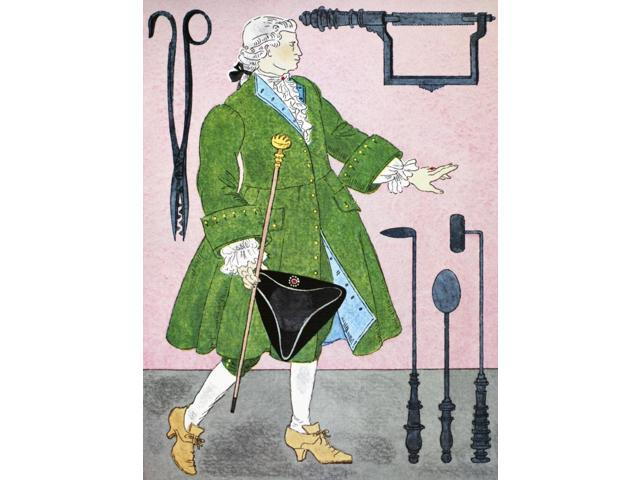Surgeon 18Th Century Nan 18Th Century Surgeon Illustration By Warja Honegger-Lavater 1962 Poster Print by  (18 x 24)