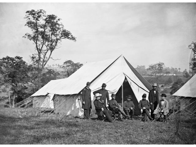 Civil War Antietam 1862 Nthe Army Of The Potomac Headquarters Captain Rives John Garrett President B & O Railroad An Orderly General Randolph Marcy Lieutenant Colonel Andrew Porter Commissary Of Subsi