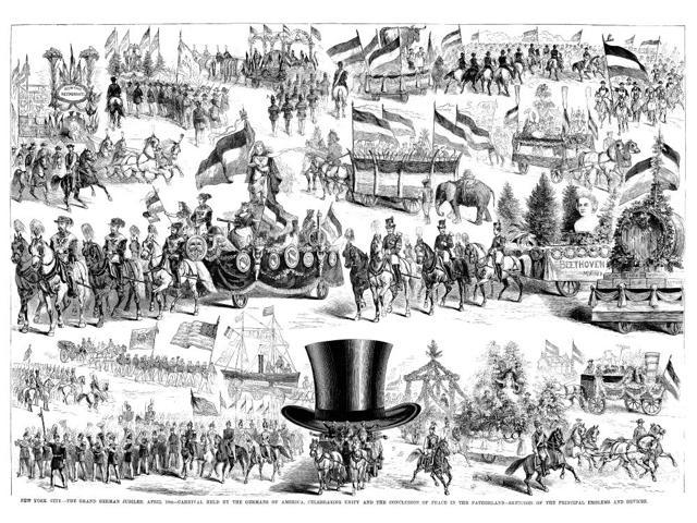 German Jubilee 1871 Nscenes From The Grand German Jubilee A Carnival Held By German-Americans In New York City 10 April 1871 Contemporary American Wood Engraving Poster Print by  (18 x 24)