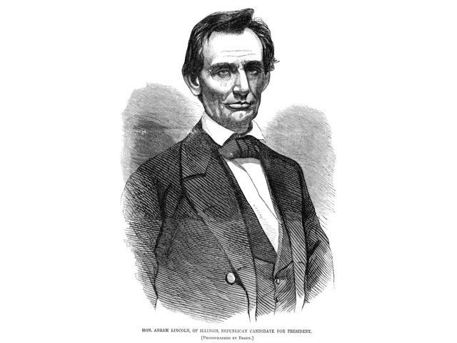 Abraham Lincoln (1809-1865)N16Th President Of The United States Engraving After A Photograph By Mathew Brady 1860 Poster Print by  (18 x 24)