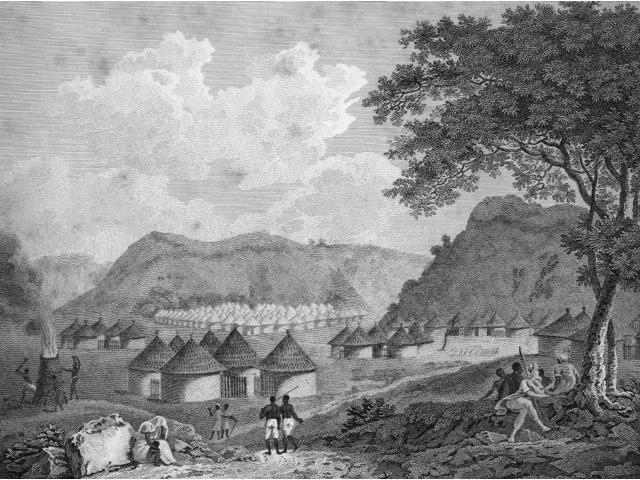 Africa Kamalia 1799 Na View Of Kamalia Engraved Plate From Mungo ParkS Travels In The Interior Of Africa London England 1799 Poster Print by  (18 x 24)