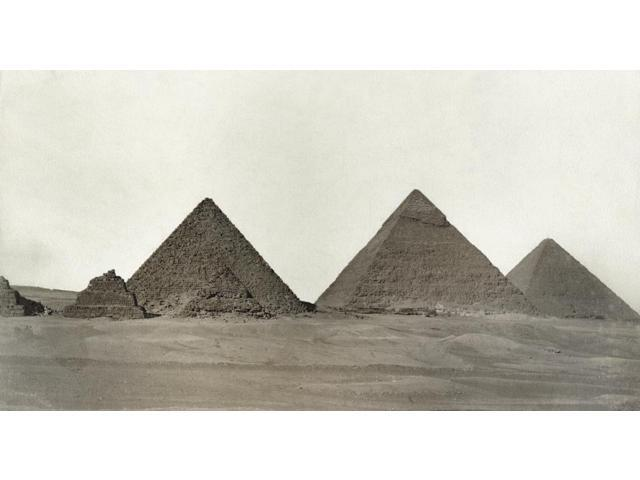 Egypt Great Pyramids Nthe Great Pyramids Of Giza Egypt Photograph Late 19Th Century Poster Print by  (18 x 24)