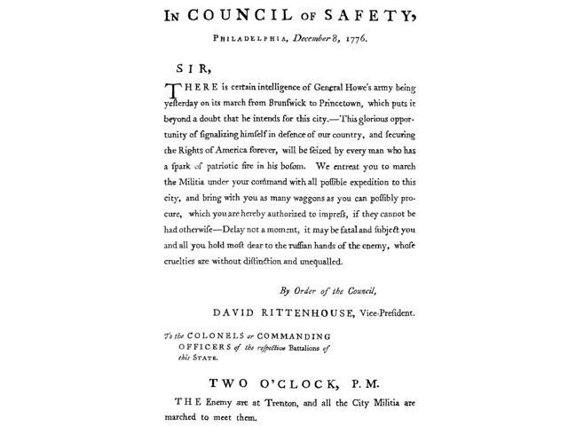 Revolutionary War Poster Nhandbill Of The Committee Of Safety Announcing British General William HoweS Approach To Philadelphia Pennsylvania During The American Revolutionary War 1776 Poster Print by