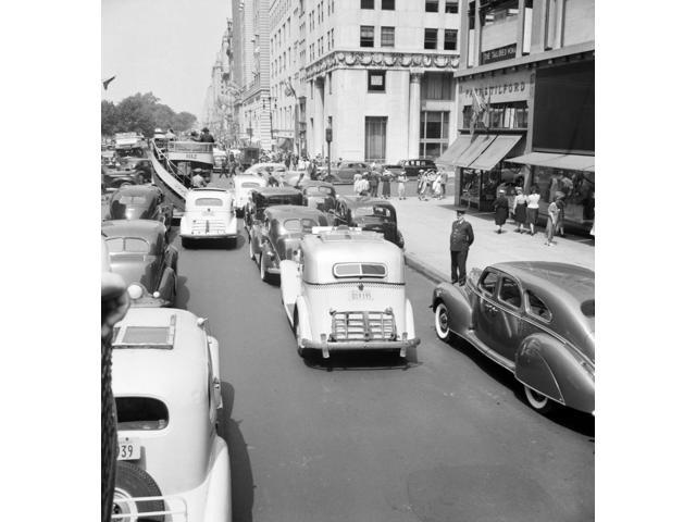 Nyc Fifth Avenue 1939 Ntraffic On 5Th Avenue Near 57Th Street In New York City Photograph By Dorothea Lange July 1939 Poster Print by  (18 x 24)