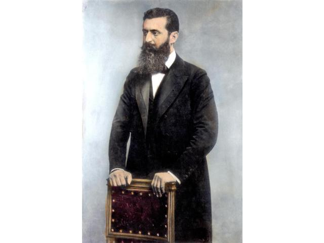 Theodor Herzl (1860-1904) Naustrian Journalist And Founder Of Zionism Oil Over A Photograph Poster Print by  (18 x 24)