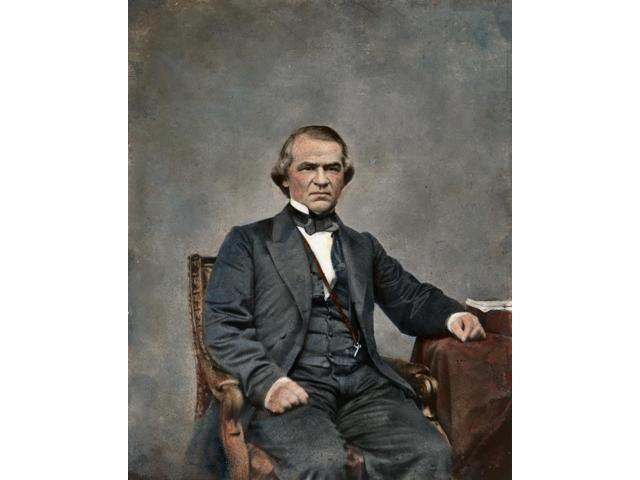 Andrew Johnson (1808-1875)N17Th President Of The United States Photograph By Mathew Brady C1865 Poster Print by  (18 x 24)