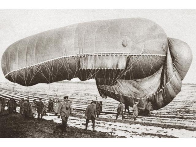 World War I Balloon Ncaptured Observation Balloon On The Western Front During World War I Photograph C1916 Poster Print by  (18 x 24)