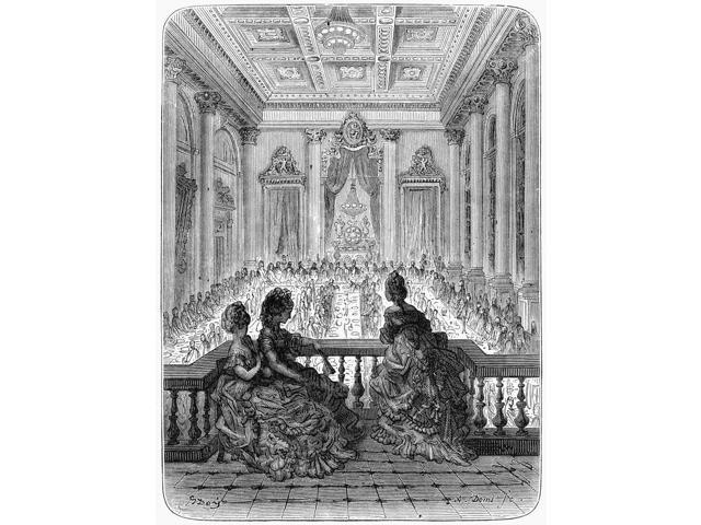 Dor London 1872 NThe Goldsmiths At Dinner Wood Engraving After Gustave Dor From London A Pilgrimage 1872 Poster Print by  (18 x 24)