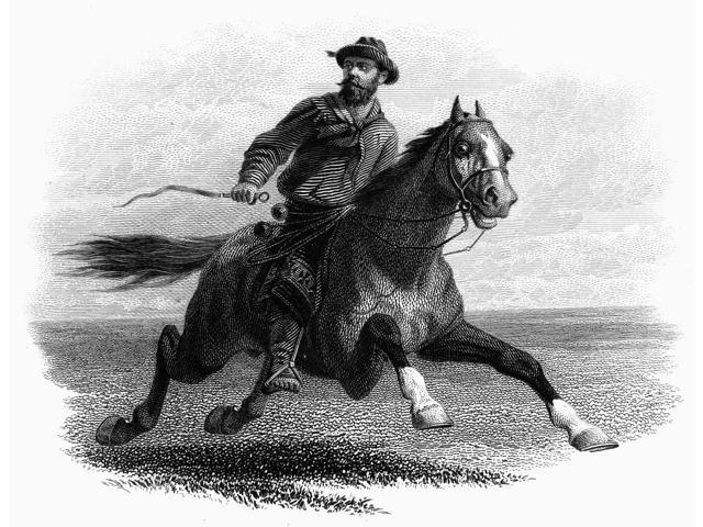 Argentina Gaucho C1870 Na Gaucho On The Pampas Of Argentina American Banknote Steel Engraving C1870 Poster Print by  (18 x 24)