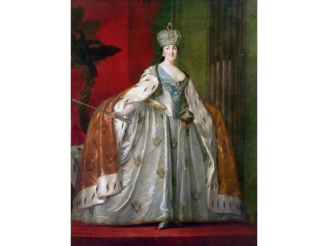 Catherine Ii Of Russia N(1729-1796) Empress Of Russia 1762-1796 Painting Of Catherine Ii In Her Coronation Gown C1762 Poster Print by  (18 x 24)