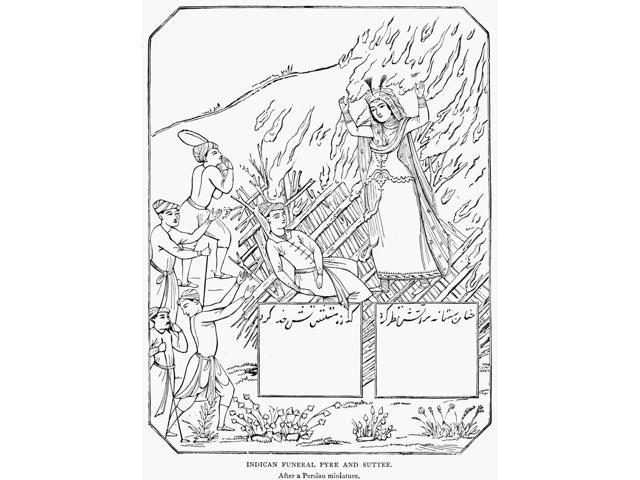Funeral Pyre Nline Engraving After A Persian Miniature Poster Print by  (18 x 24)