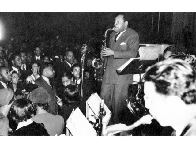 Coleman Hawkins (1904-1969) Namerican Musician Hawkins Playing The Saxophone At A Wedding Reception In Harlem New York City 1940 Poster Print by  (18 x 24)