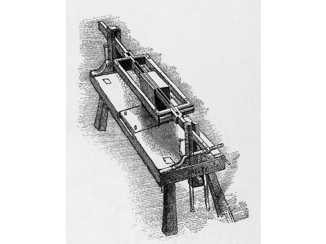 Da Vinci Invention Marble Sewing Machine Poster Print by Science Source (18 x 24)