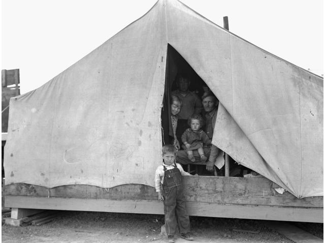 Migrant Camp 1939 Nan Ex-Tenant Farmer From Oklahoma With Four Of His Eleven Children In An Emergency Migrant Camp For Drought Refugees In Brawley Imperial Valley California Photograph By Dorothea Lan