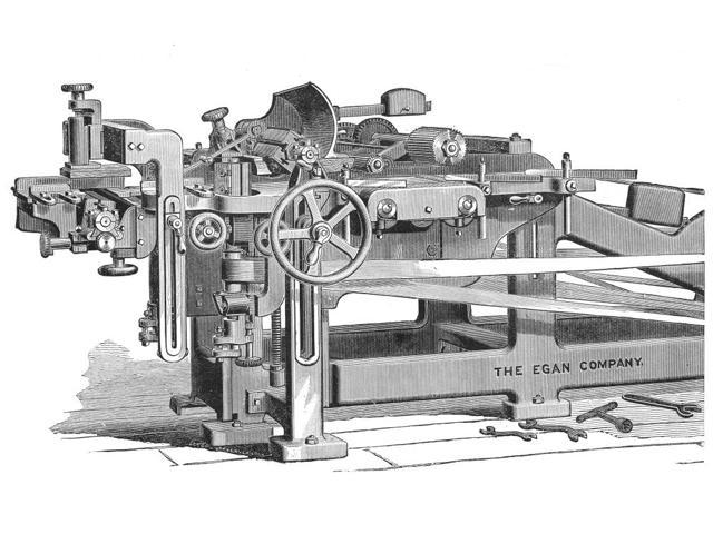 Molding Machine C1890 Nfour-Sided Molding Machine C1890 American Line Engraving Poster Print by  (18 x 24)