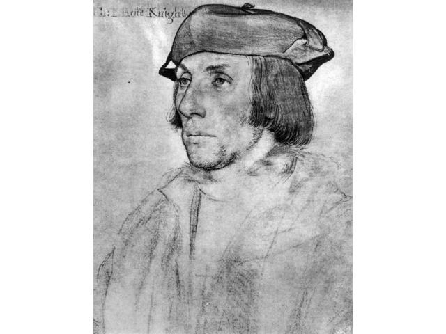 Thomas Elyot (1490-1546) Nenglish Diplomat And Scholar Chalk Drawing C1536 By Hans Holbein The Younger Poster Print by  (18 x 24)
