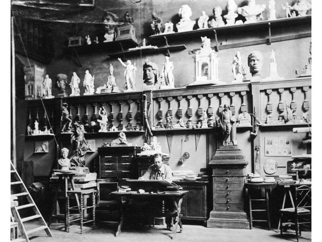 Frederic-Auguste Bartholdi N(1834-1904) French Sculptor Photographed In His Studio C1880 Poster Print by  (18 x 24)