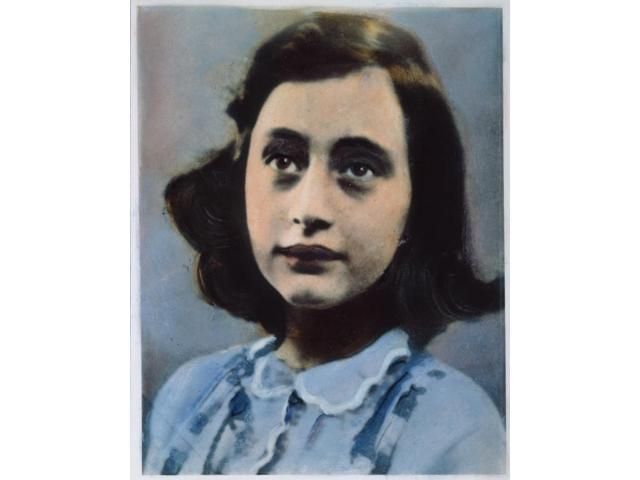 Anne Frank (1929-1945) Ngerman-Jewish Diarist Oil Over A Photograph Poster Print by  (18 x 24)