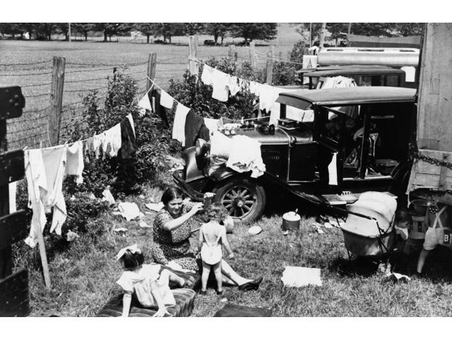 Vermont Camp 1936 Na FarmerS Family Camping At A State Fair In Morrisville Vermont Photograph By Carl Mydans August 1936 Poster Print by  (18 x 24)