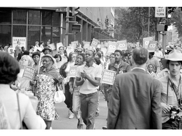 Poor PeopleS March 1968 Nprotesters Marching On Connecticut Avenue Near Lafayette Park In Washington DC During The Poor PeopleS March On Washington 18 June 1968 Photographed By Warren K Leffler Poster