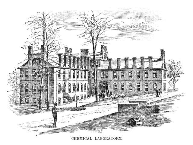 Lehigh University 1888 Nthe Chemistry Laboratory At Lehigh University In Bethlehem Pennsylvania Wood Engraving American 1888 Poster Print by  (18 x 24)