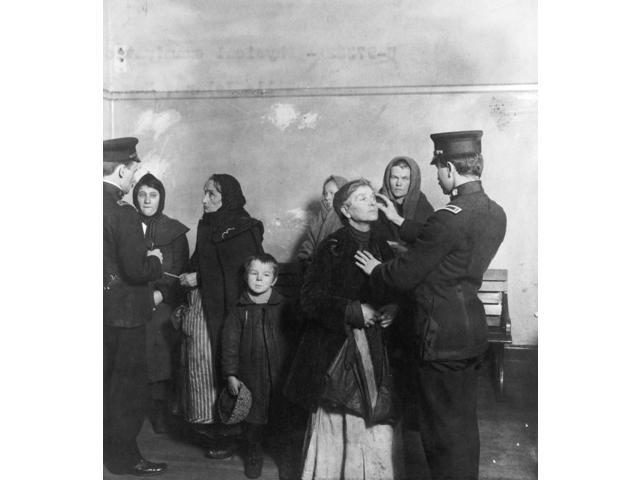 Ellis Island Inspection Nfederal Inspectors Examining The Eyes Of Immigrants At The Immigration Station In New York Harbor C1911 Poster Print by  (18 x 24)