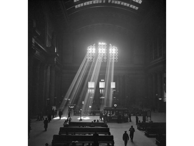 Chicago Union Station Nthe Waiting Room Of Union Station In Chicago Illinois Photograph By Jack Delano 1943 Poster Print by  (18 x 24)