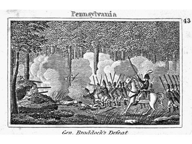 BraddockS March 1755 Ngeneral Edward BraddockS March To Fort Duquesne In 1755 During The French And Indian War Line Engraving American 1830 Poster Print by  (18 x 24)