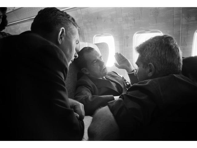 Richard Nixon (1913-1994) N37Th President Of The United States Nixon As Vice President Speaking With Reporters On Board A Plane Following His Visit To The Soviet Union 5 August 1959 Photographed By Th